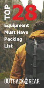 equipment backpack packing essential outdoor camping wilderness list items